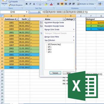Excel 2010 En. Her Yönüyle Filtreleme Video Eğitimi
