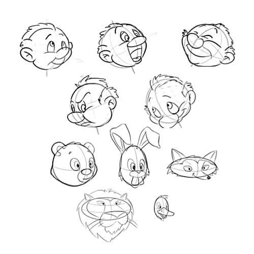 Karakter Kafa Çizim Teknikleri Video Eğitimi