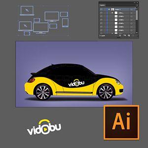 Illustrator ile Araç Giydirme Video Eğitimi