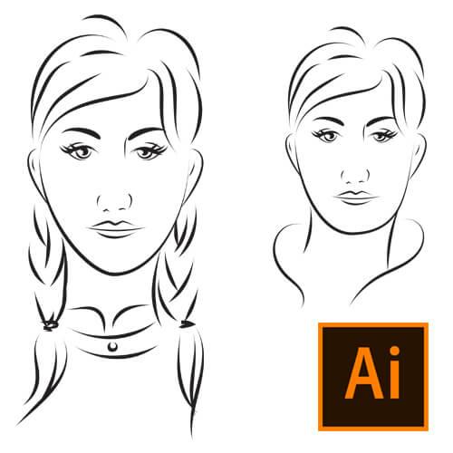 Illustrator ile Teknik Portre Çizimi Nasıl Yapılır? Video Eğitimi