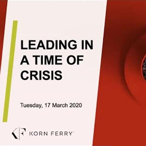 Leading in a Time of Crisis Video Eğitimi