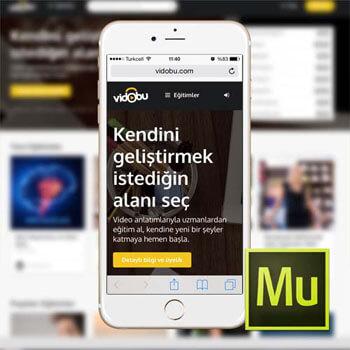 Muse ile Mobil Web Sitesi Tasarımı Video Eğitimi