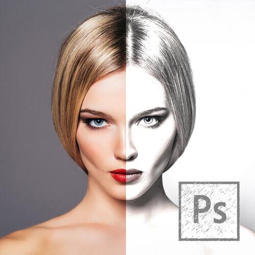 Photoshop ile Fotoğrafları Kara Kalem Çizime Dönüştürmek Video Eğitimi