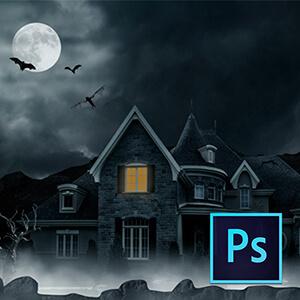 Photoshop ile Perili Ev Manipülasyonu Video Eğitimi