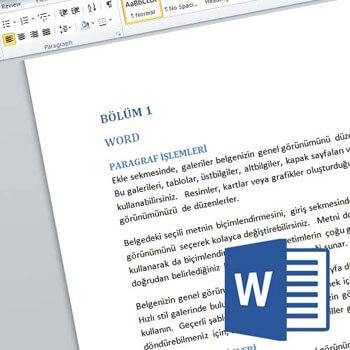 Word 2010 Tr. ile Tez, Kitap gibi Çoklu Sayfalarda Pratik İşlemler Video Eğitimi
